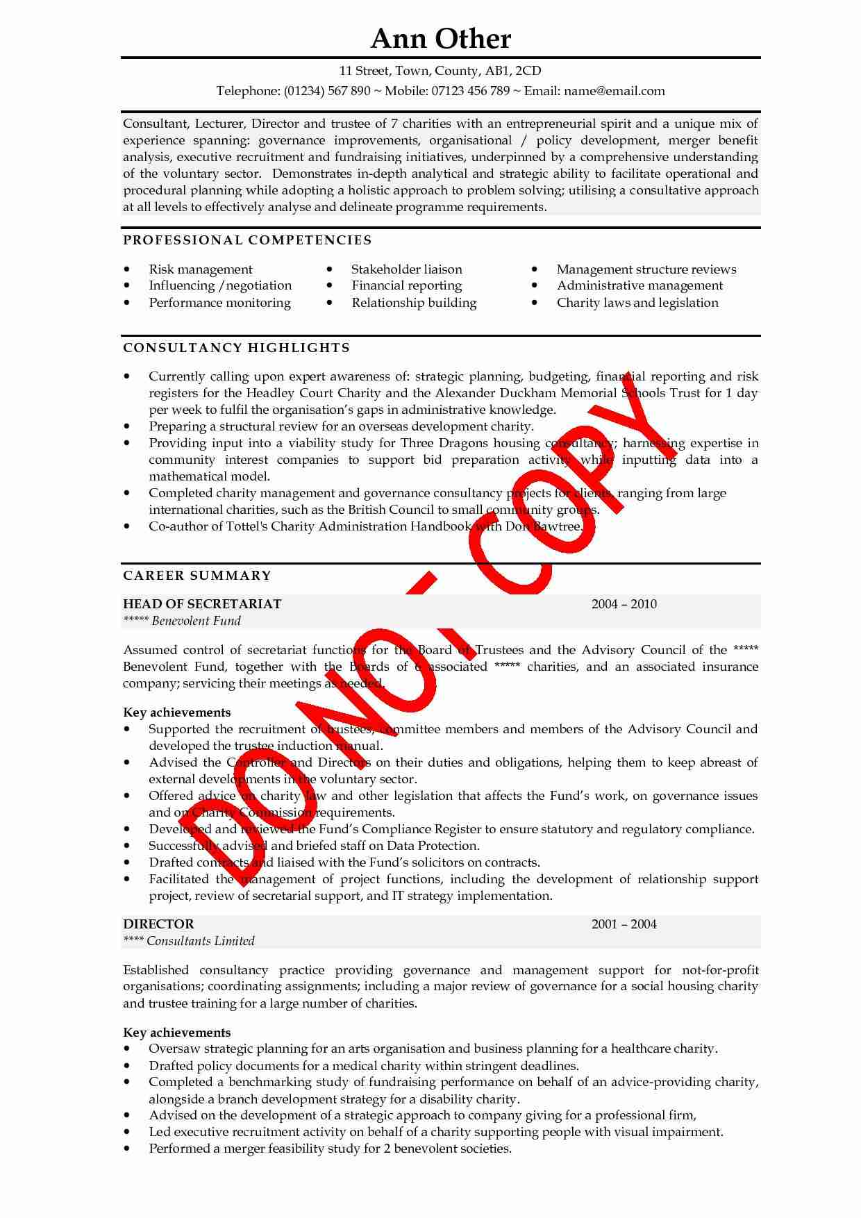 cv sample A curriculum vitae (cv) the sample vitas below suggest formats they are not meant to legislate what the content or length of your cv should be.